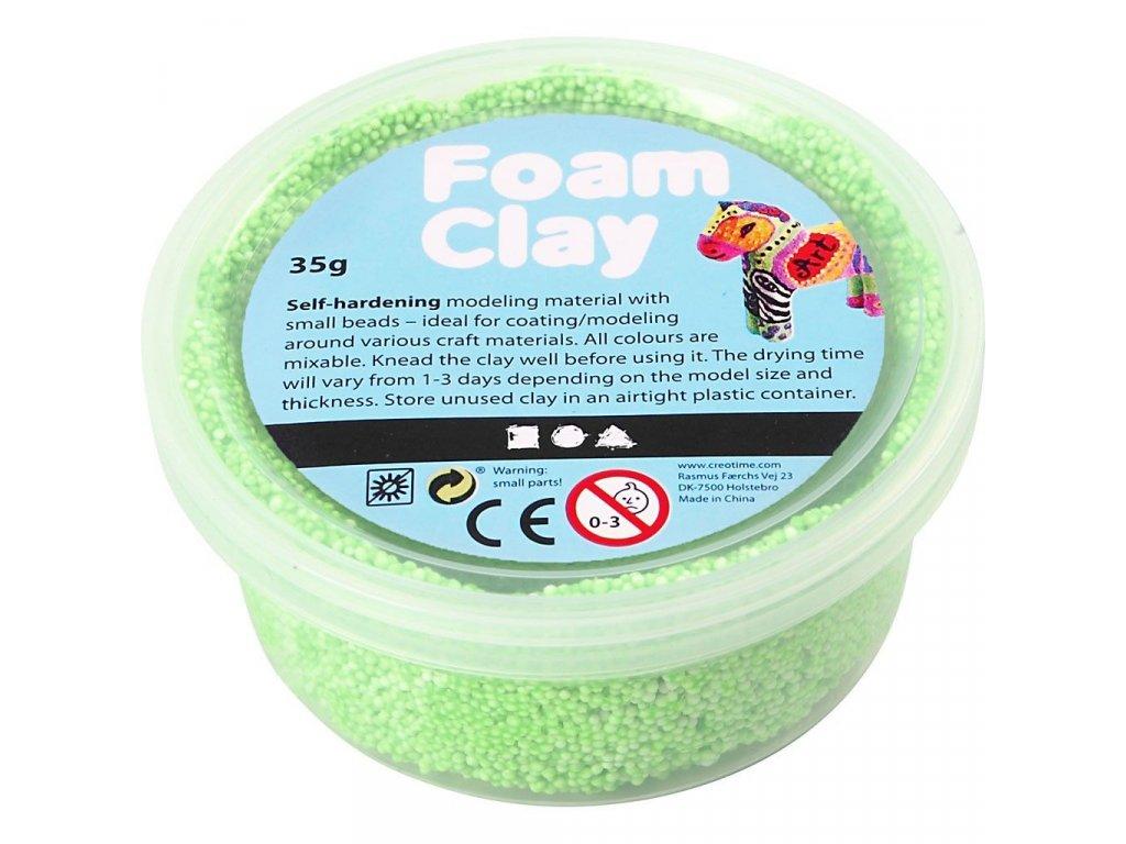 Foam Clay kreativní hmota výrazně zelená