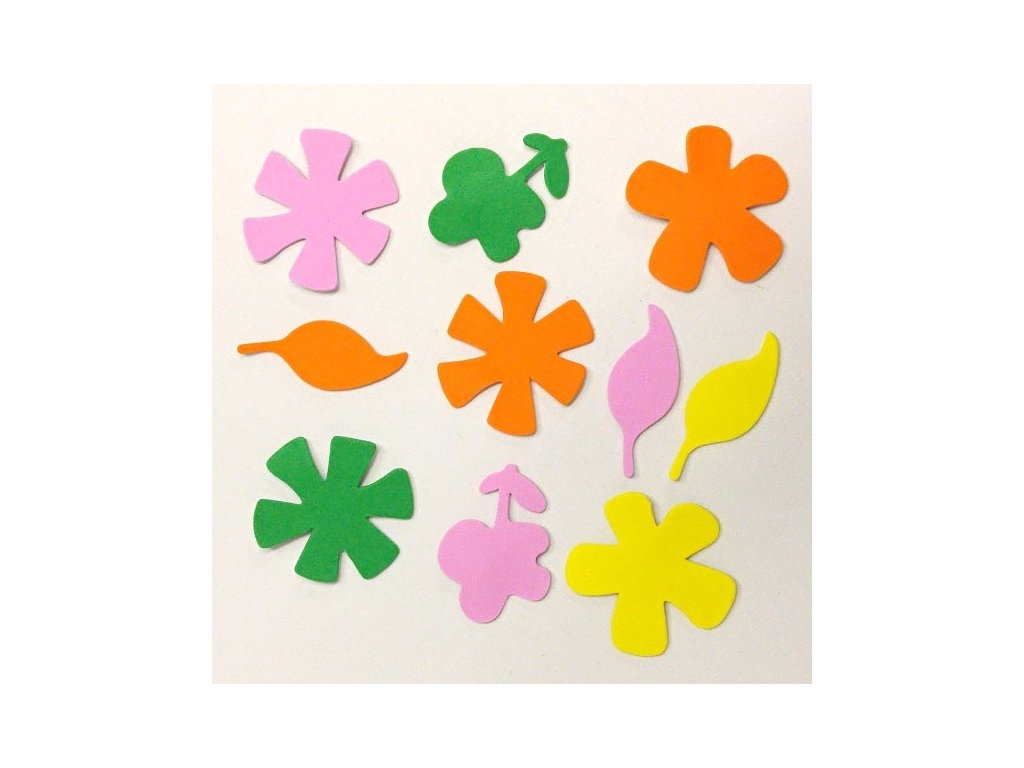 Výřezy z pěnovky Květiny a listy