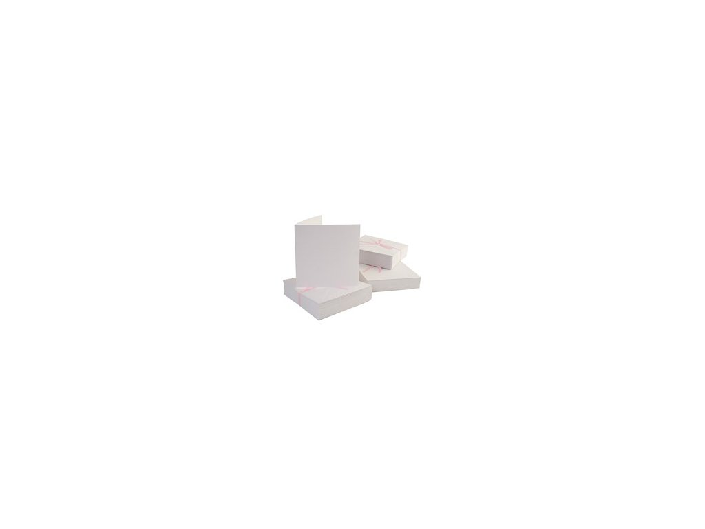 13x13 přání a obálky bílé 100 ks