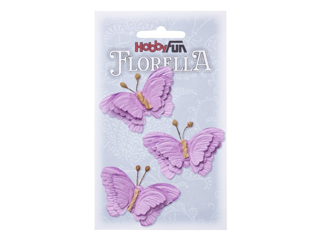 Papíroví motýli FLORELLA fialoví