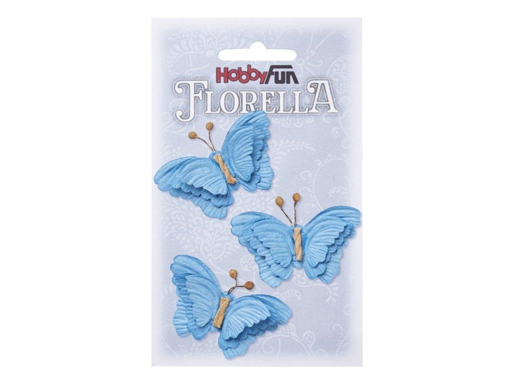 Papíroví motýli FLORELLA modří