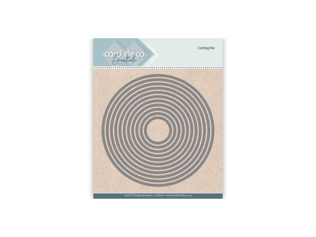 Šablona vyřezávací kovová Kruhy