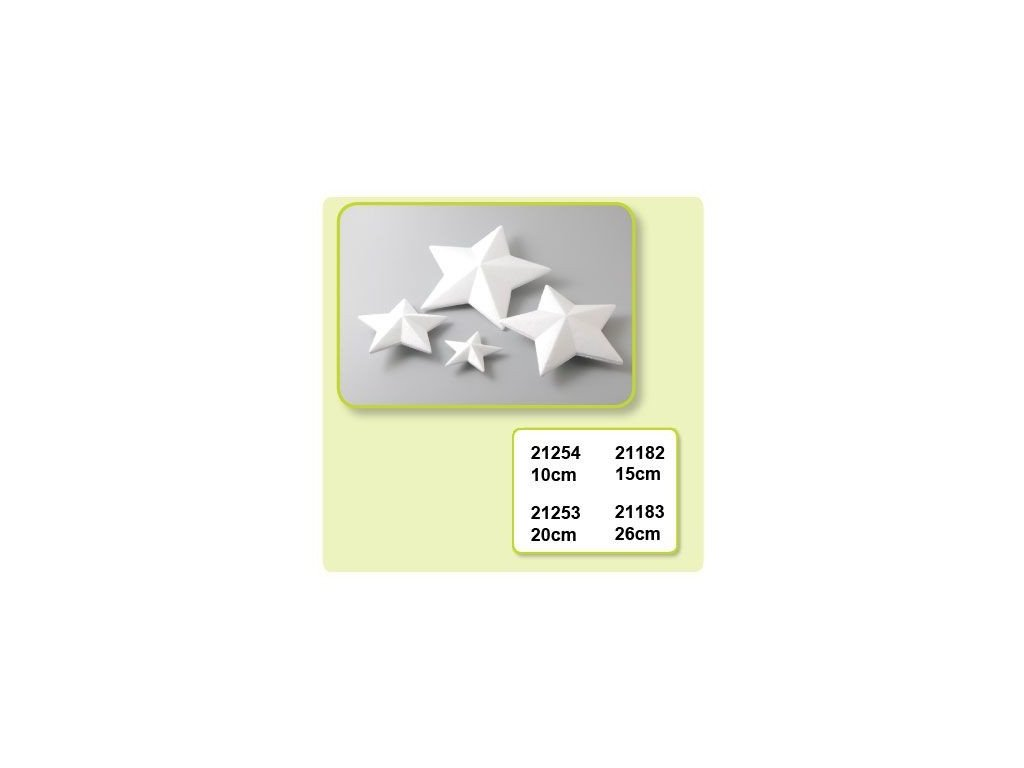 Polystyrenová hvězda 15cm