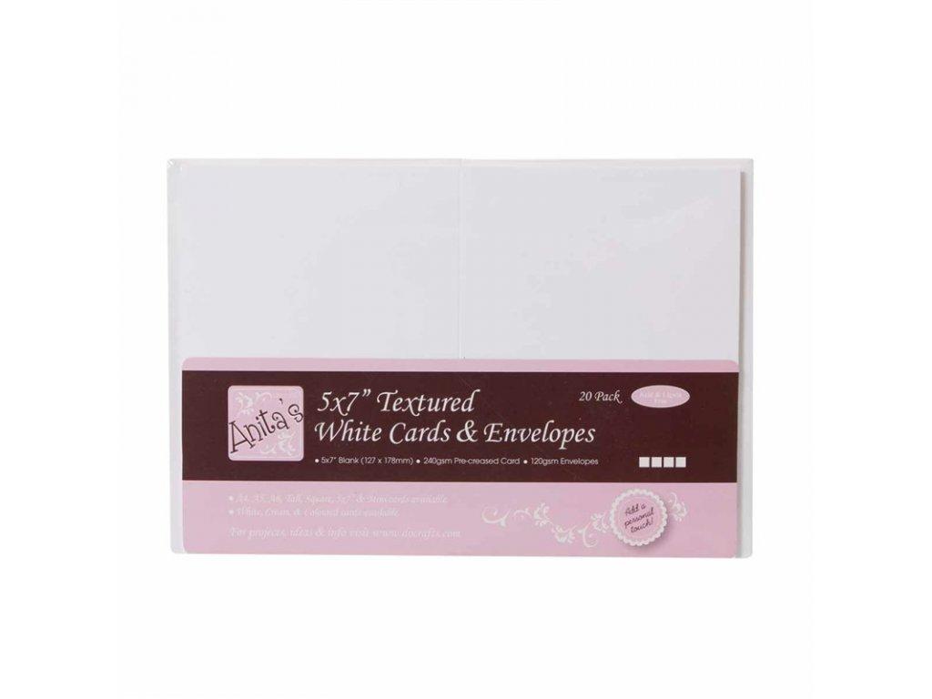 12x17 přání a obálky bílé