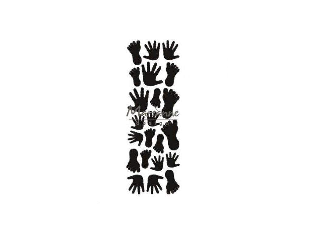 Vyřezávací kovová šablona Ruce a nohy