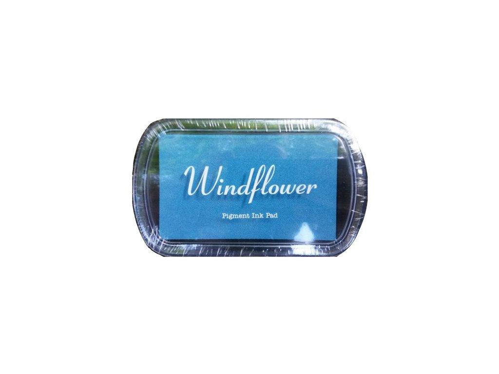 Razítkovací polštářek Windflower Světle modrý
