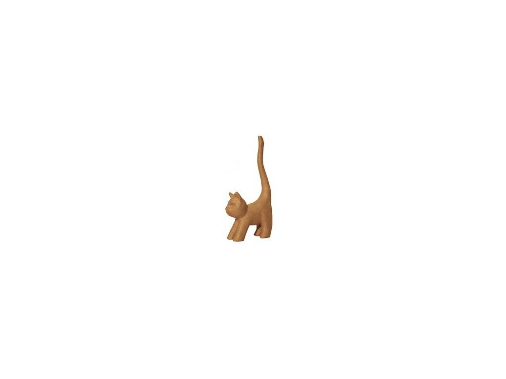 Kartonový předmět kočka s dlouhým ocasem