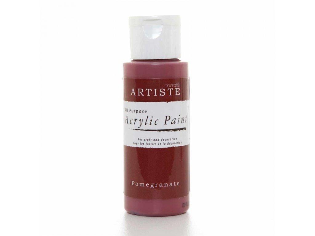 Akrylová barva ARTISTE - granátové jablko