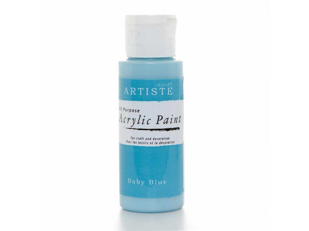 Akrylová barva ARTISTE - bleděmodrá