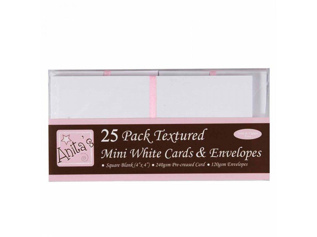 přání a obálky 25ks - bílé