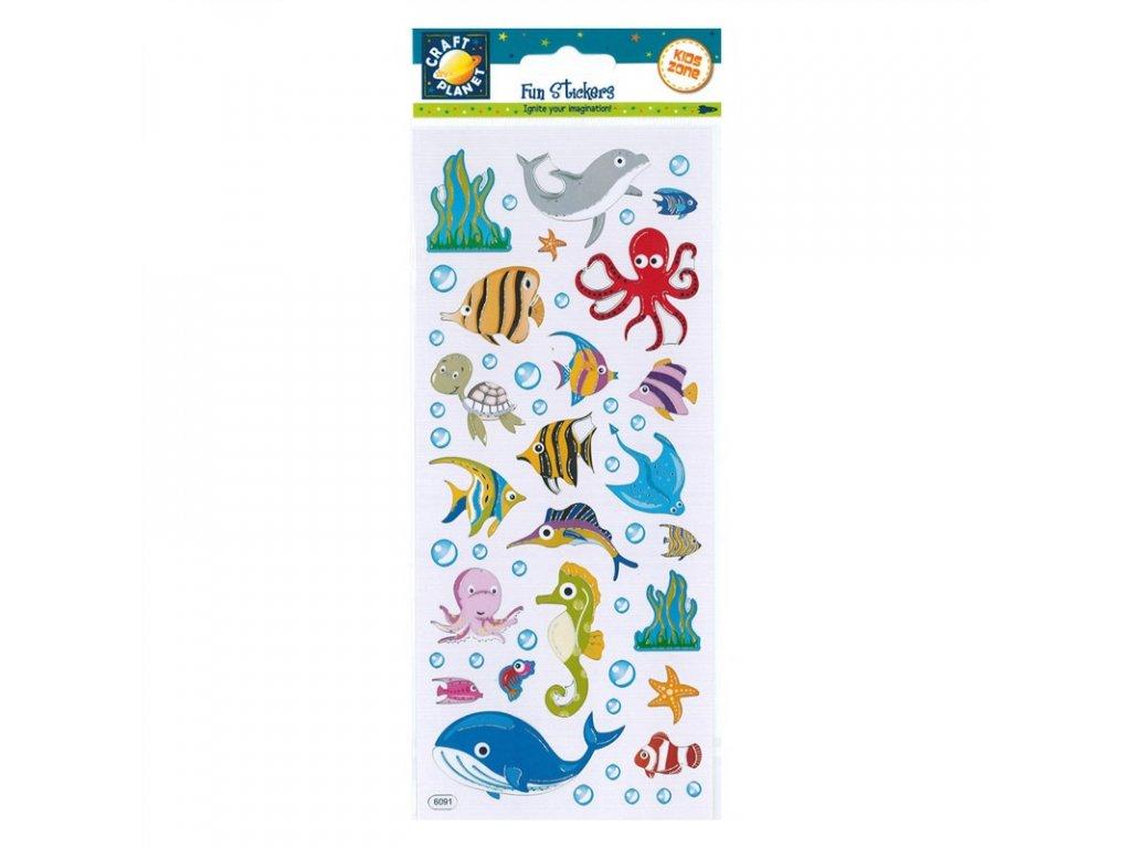 Samolepky Chobotnice, rybky