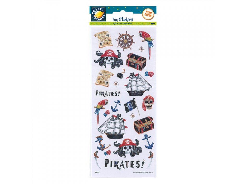 Samolepky Piráti se strašidelnou lebkou