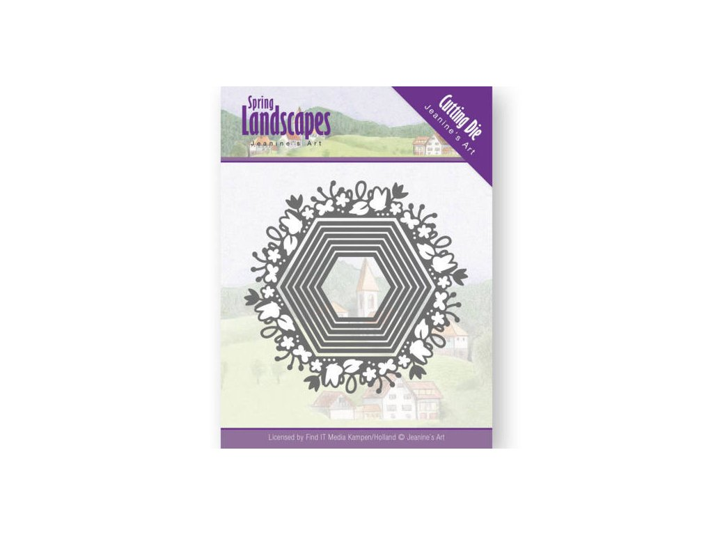 Šablona vyřezávací kovová Jarní šestiúhelníky