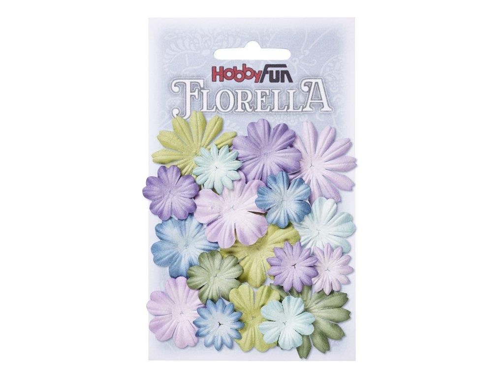Papírové květy FLORELLA mix barev IV
