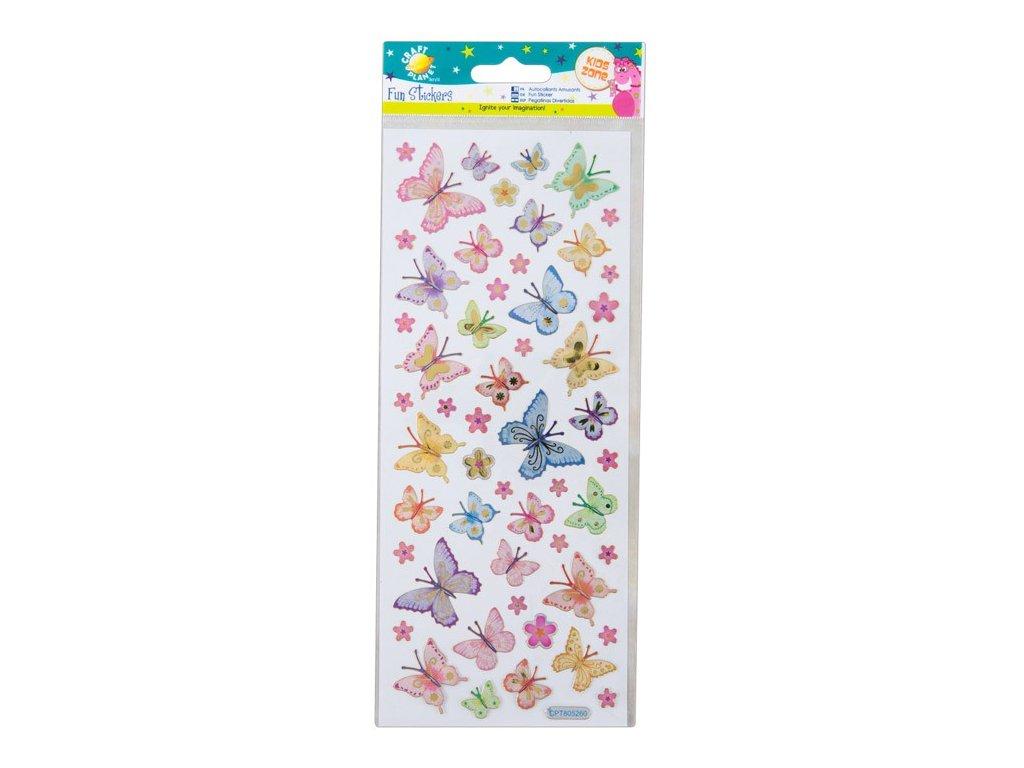 Samolepky Motýlci a květiny