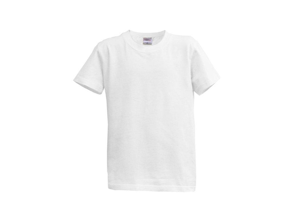 Dětské tričko krátký rukáv L - bílé (12-13 let, 152)