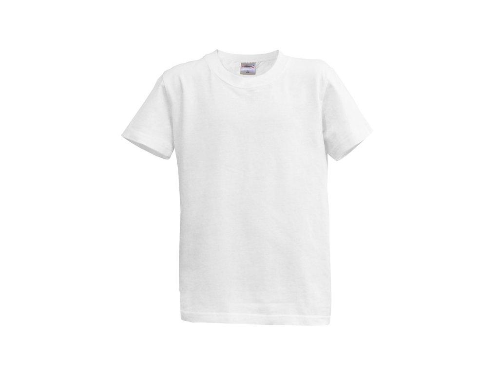 Dětské tričko krátký rukáv S - bílé (7-8 let, 128)