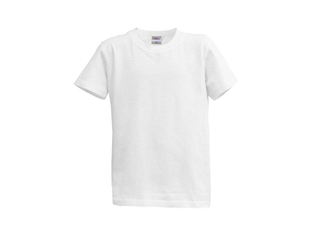Dětské tričko krátký rukáv XL - bílé (14-15 let, 164)