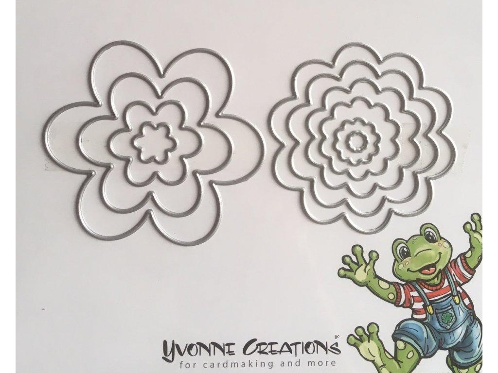 AKCE Šablona vyřezávací květinky a květiny