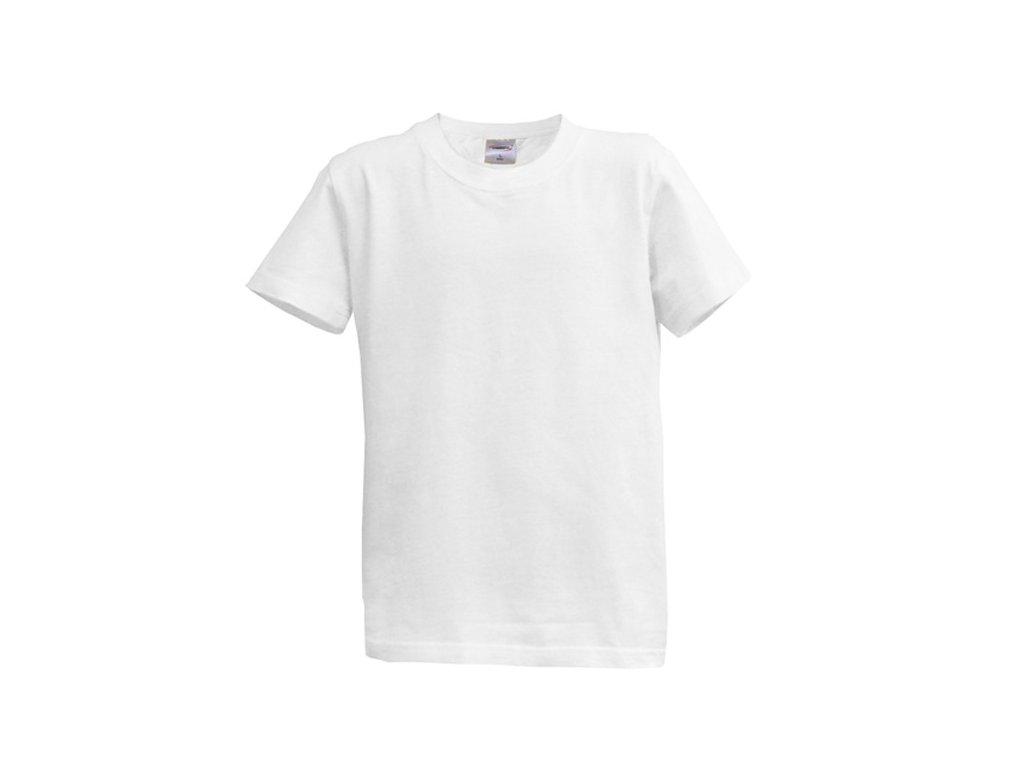 Dětské tričko krátký rukáv XS - bílé (5-6 let, 116)