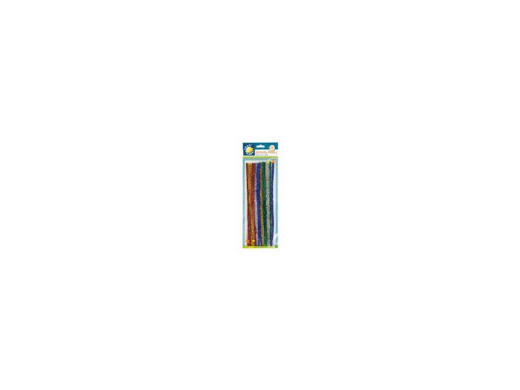 Chlupaté dráty třpytivé barevné
