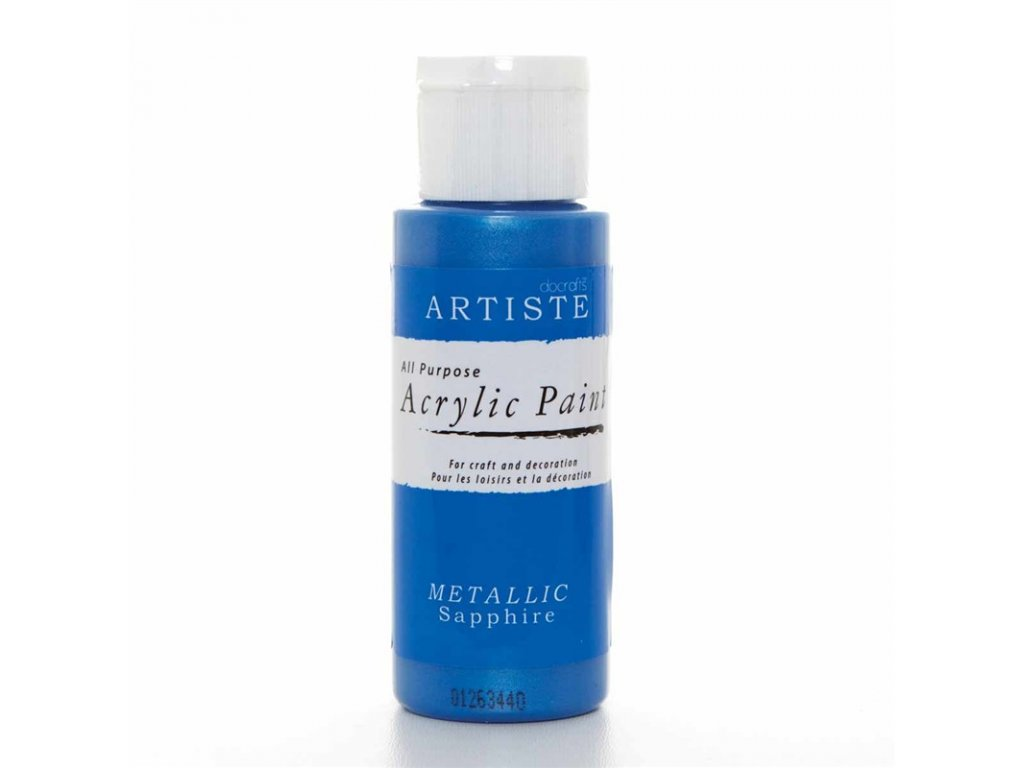 Akrylová barva ARTISTE metalická - modrá