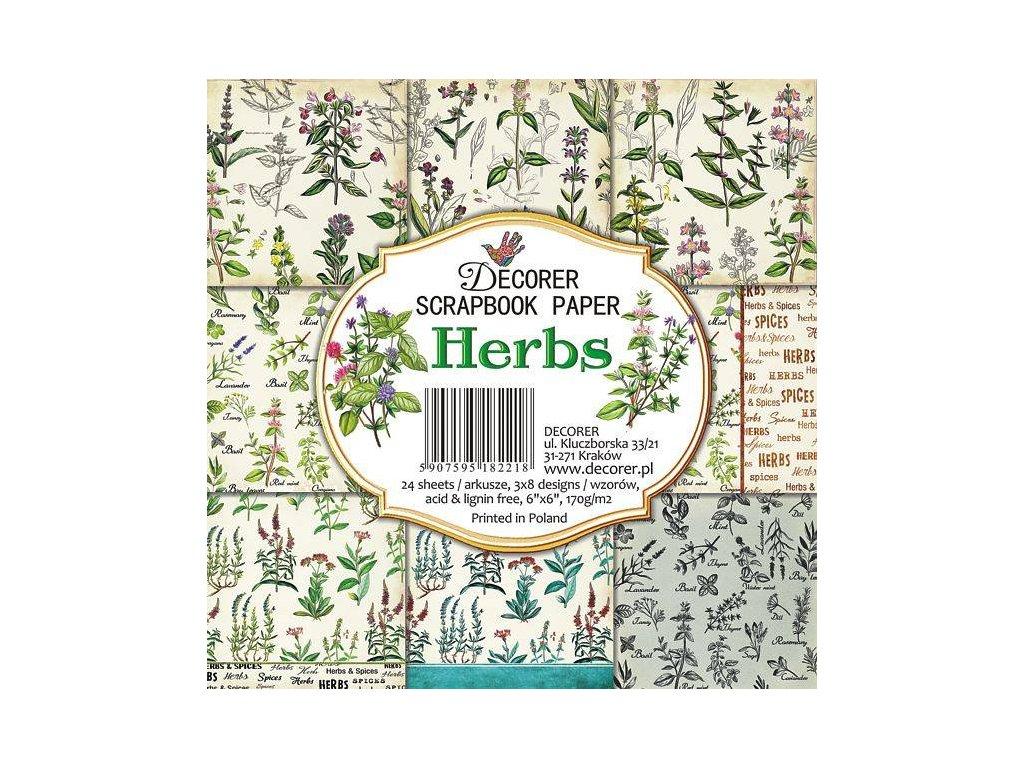 Sada papírů Herbs 15,2x15,2cm
