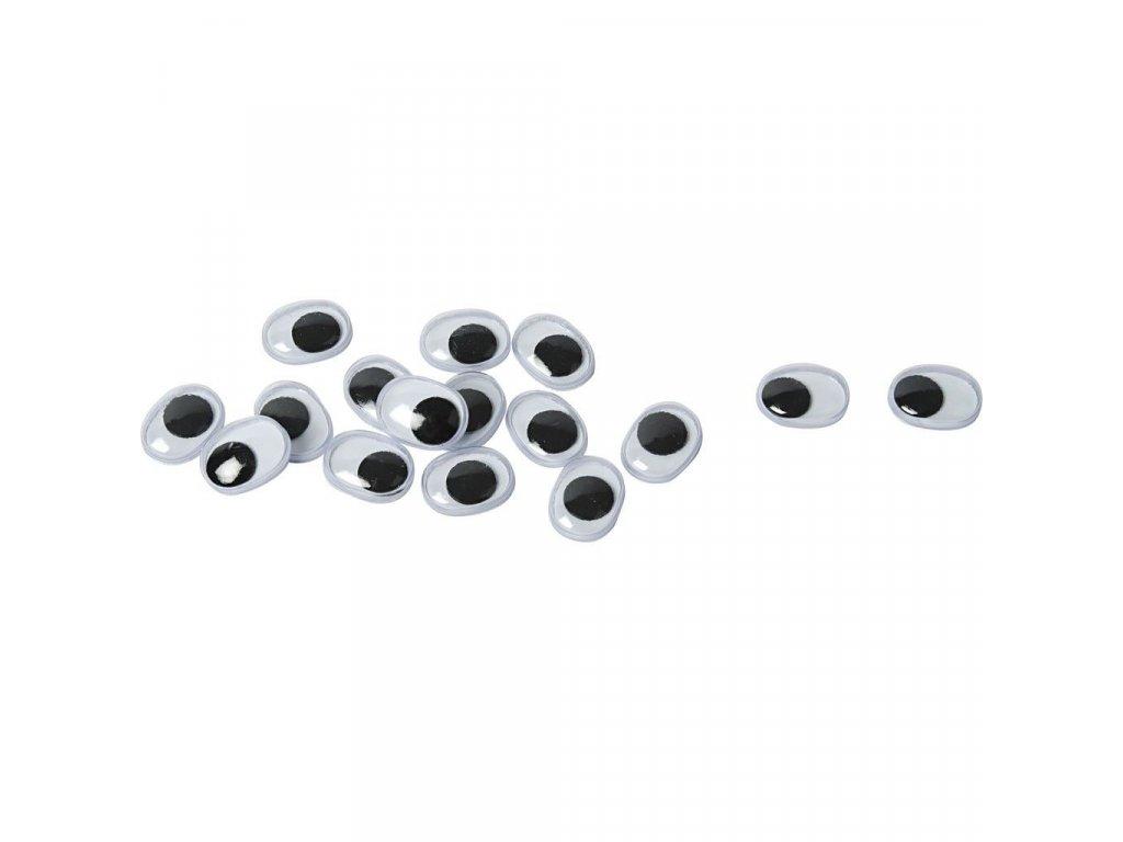 Pohyblivé oči oválné 9x12 mm, 50 ks