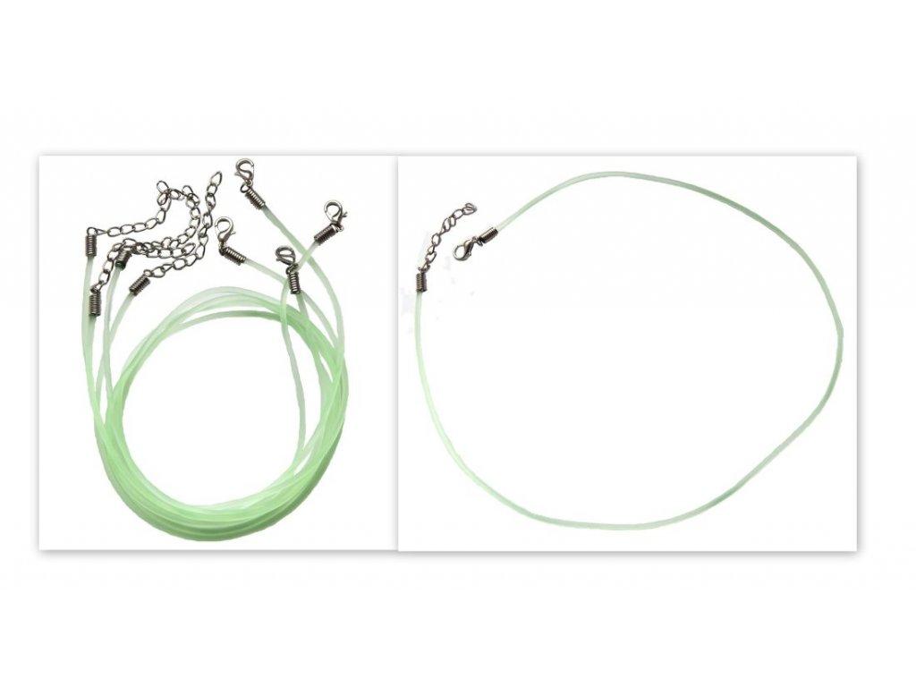 Gumový náhrdelník se zapínáním zelený
