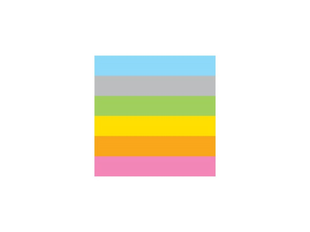Sada papírů barevných A4 mix duhových barev
