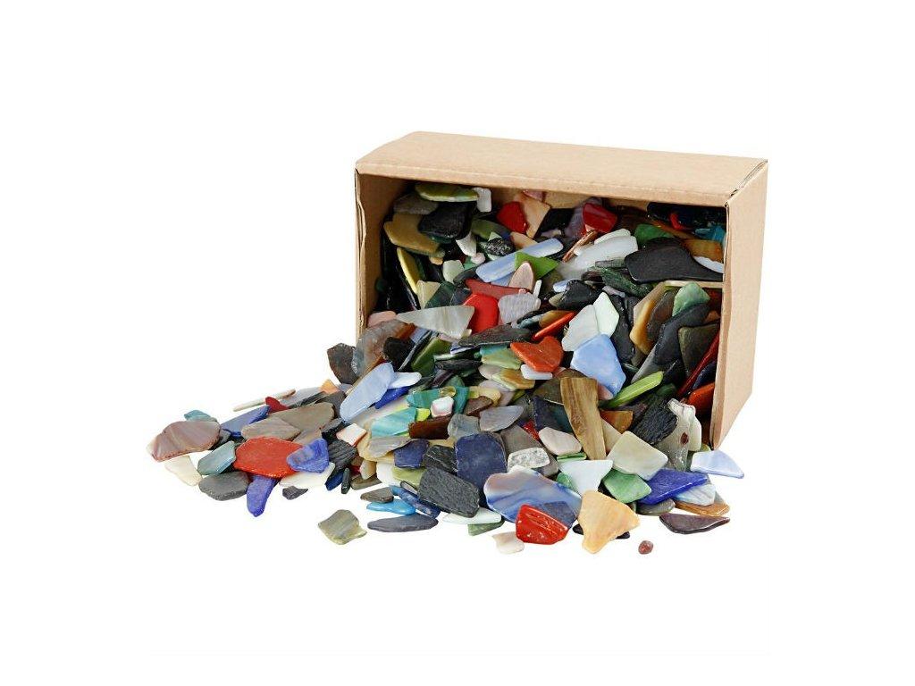 Mozaika skleněná střepy mix barev 15-60mm