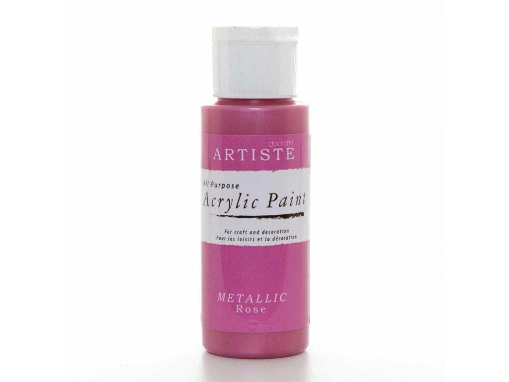 Akrylová barva ARTISTE metalická - růžová
