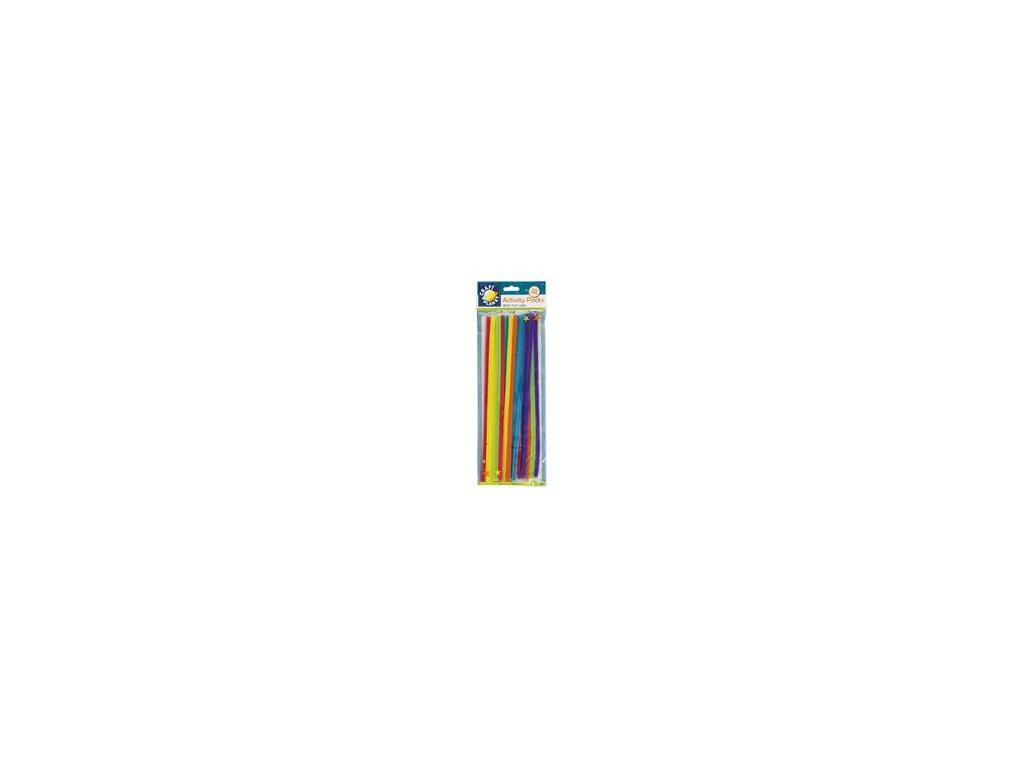 Chlupaté dráty neonový mix (20ks)
