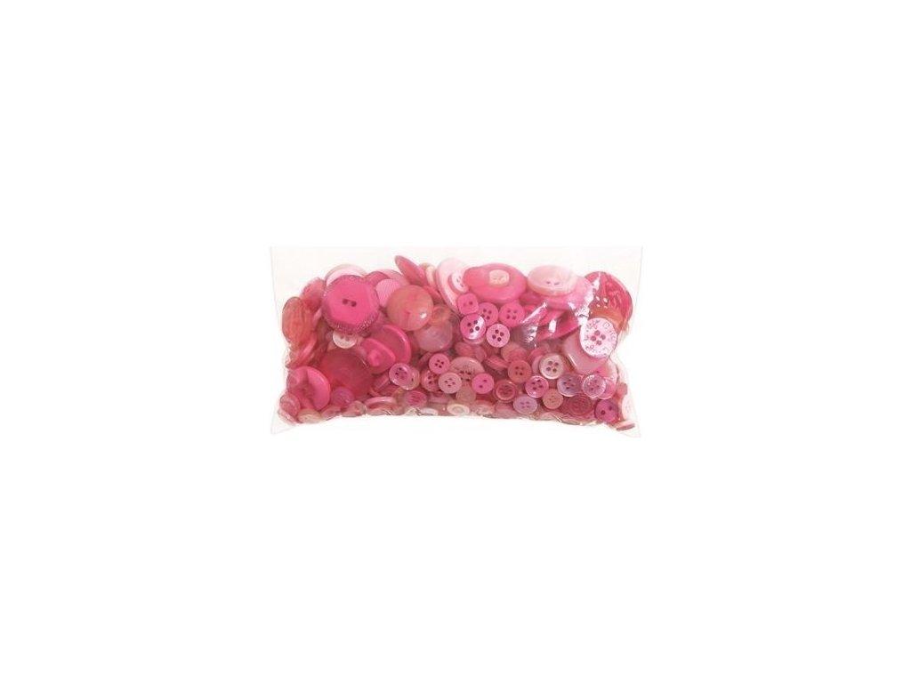 Knoflíky mix Růžové