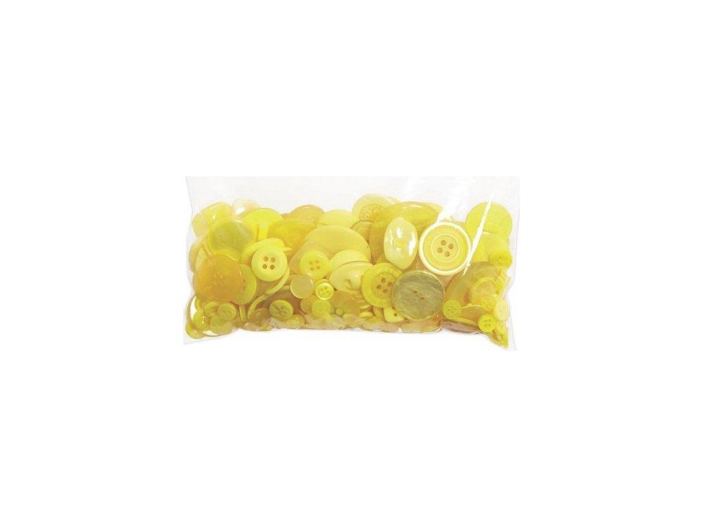 Knoflíky mix Žluté