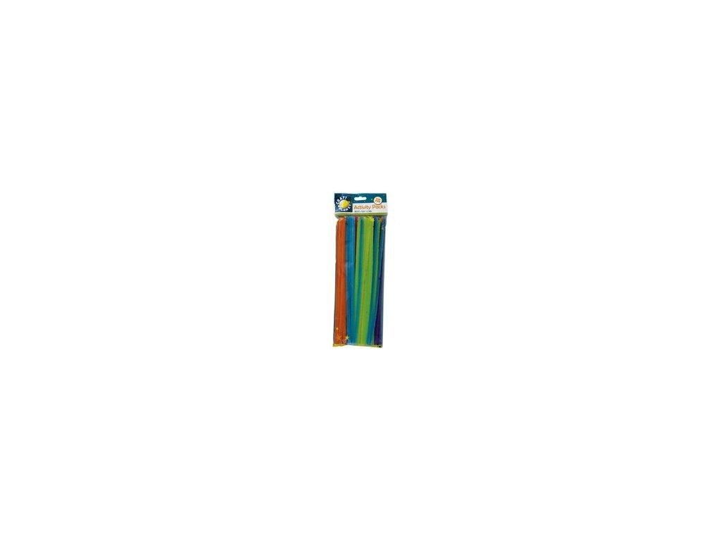 Chlupaté dráty neonový mix (60ks)