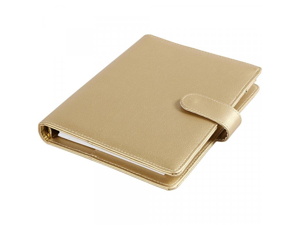 Diář s kroužkovou vazbou Journal & Planner zlatý