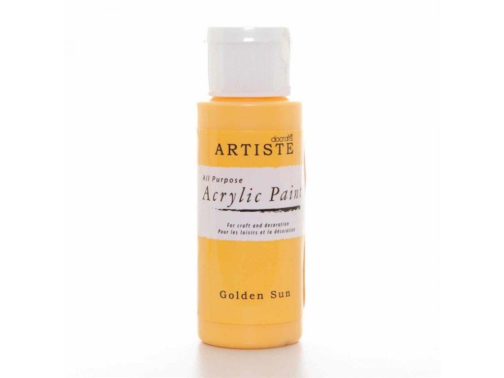 Akrylová barva ARTISTE - žlutá