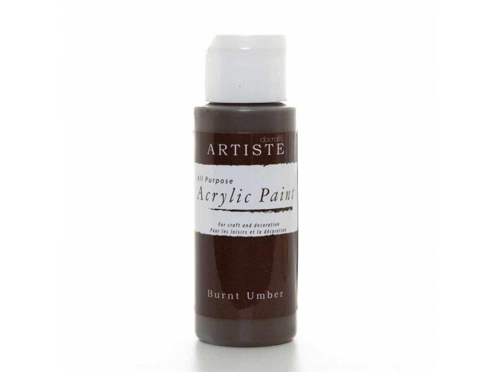 Akrylová barva ARTISTE - tmavě hnědá