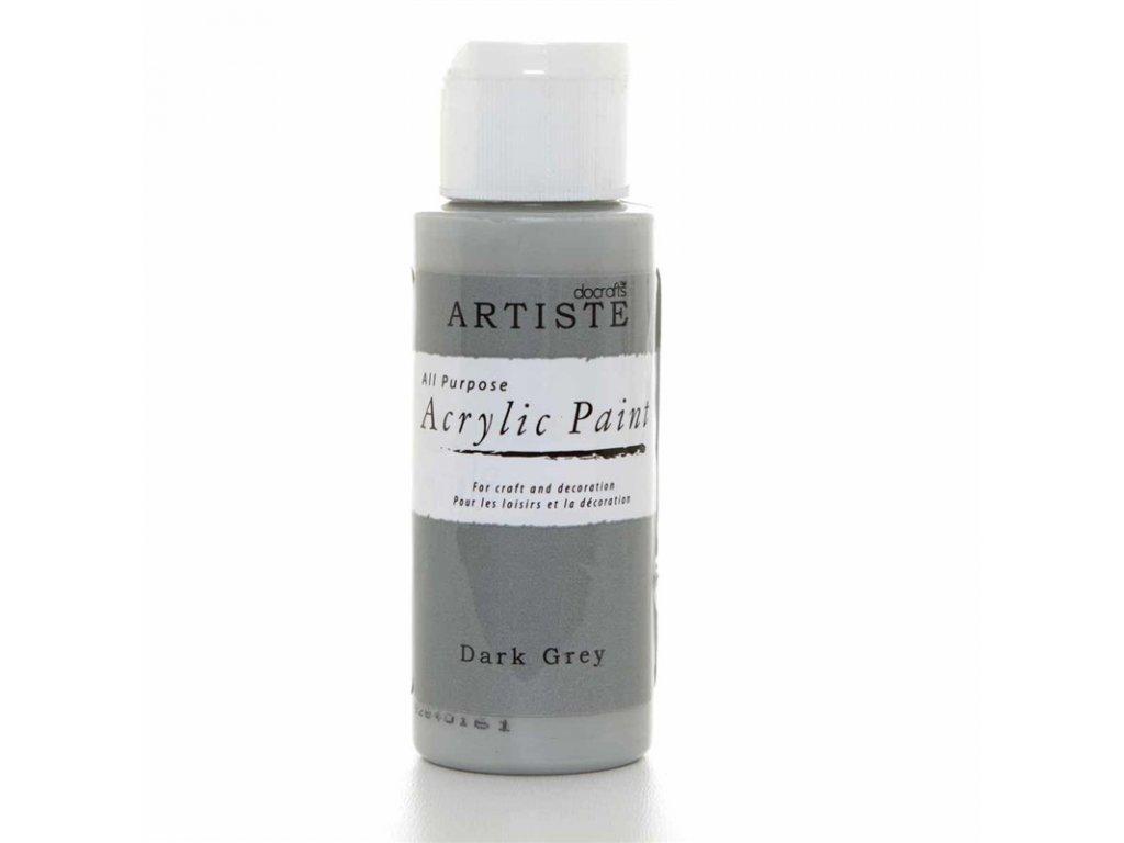 Akrylová barva ARTISTE  - tmavě šedá