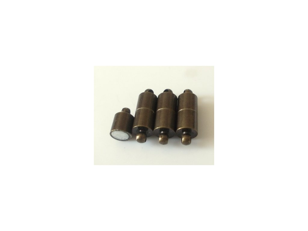 Magnetické zapínání, 19x6mm, starobronz