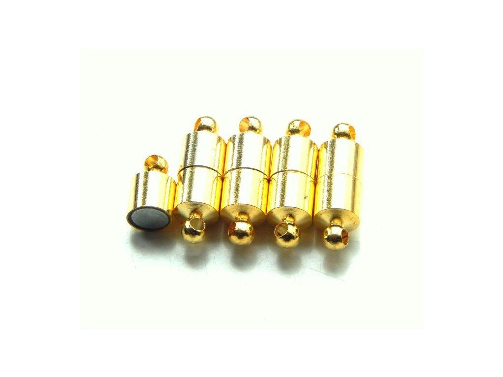 Magnetické zapínání, 19x6mm, pozlaceno