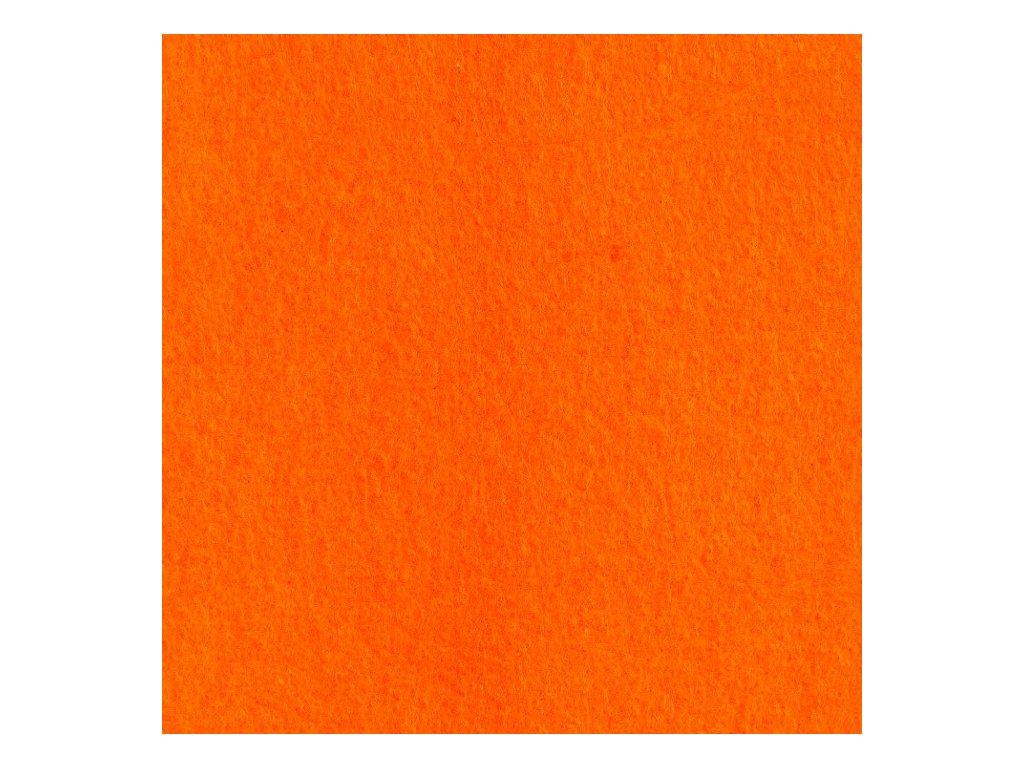 Filc 2mm, 20x30cm oranžový