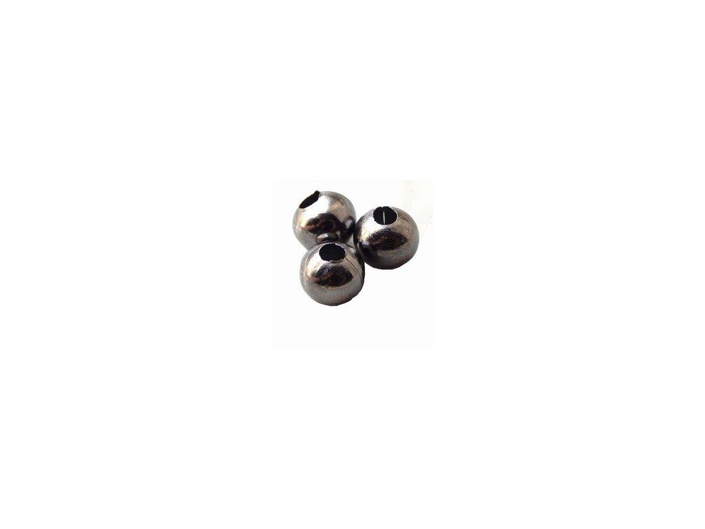 Kovové korálky 8mm, hematit