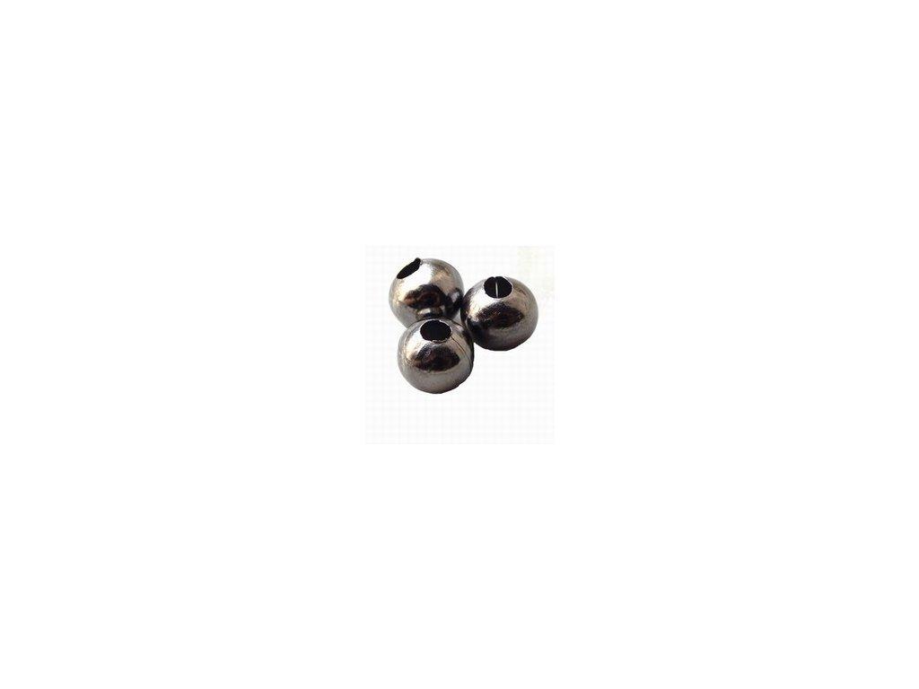 Kovové korálky 6mm, hematit