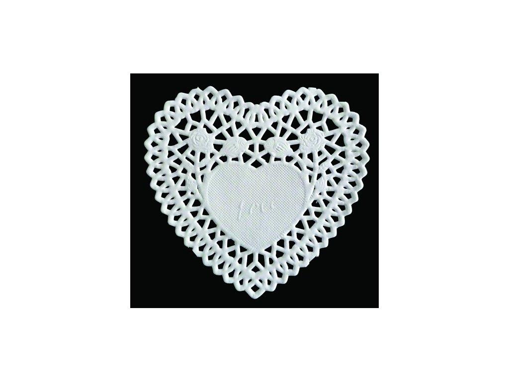 Papírová krajka srdce