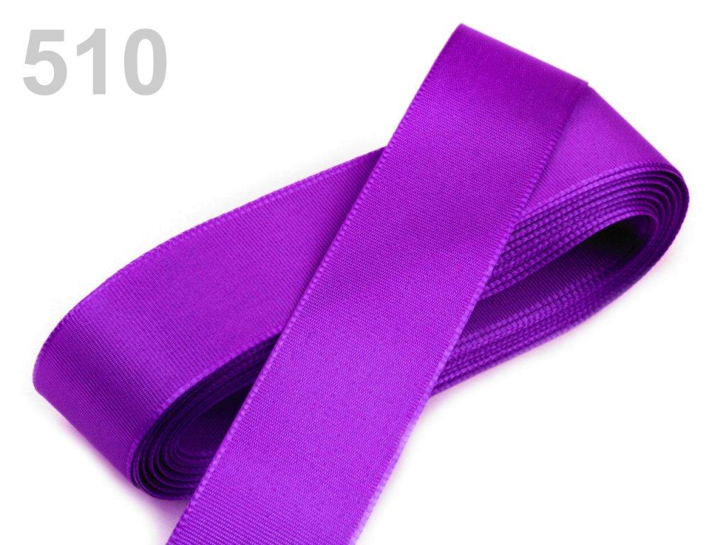 stuha taftová 9 mm středně fialová