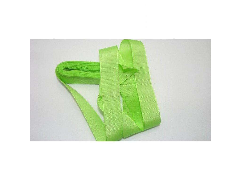 stuha taftová 9 mm zelenožlutá
