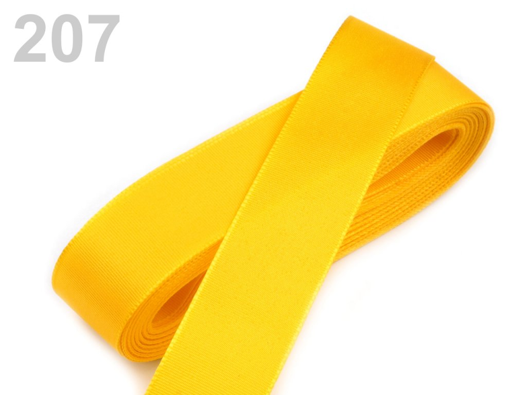 stuha taftová 9 mm kanárkově žlutá