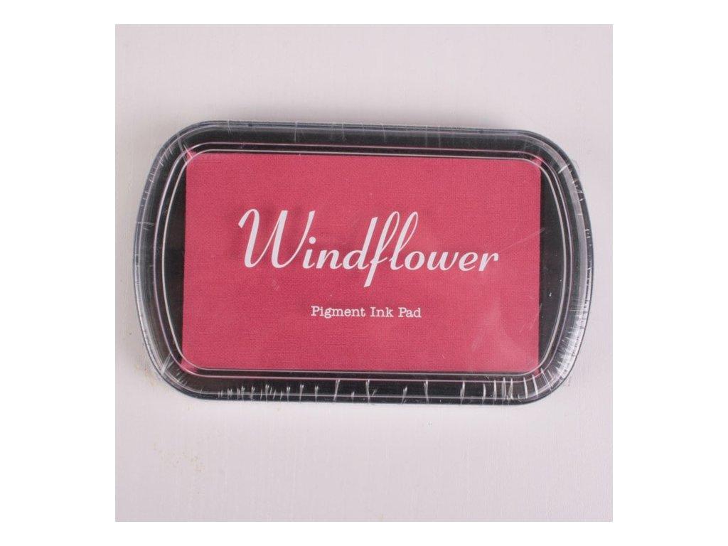 Razítkovací polštářek Windflower růžovo červený